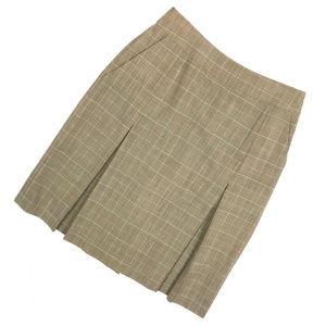 """Brooks Brothers """"346"""" Plaid Box Pleat Skirt"""